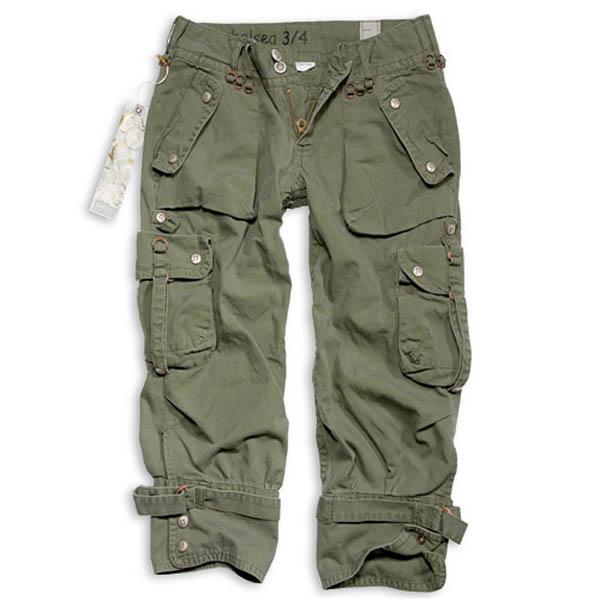 Ladies Chelsea Shorts, oliv gewaschen