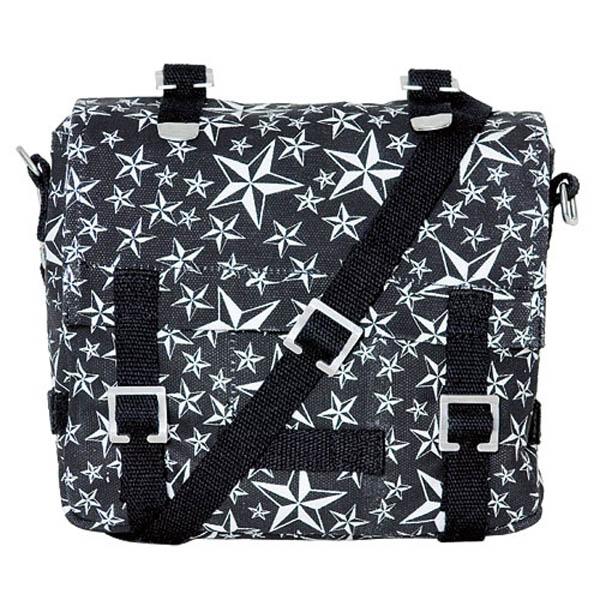 Kampftasche, klein,white nautical star