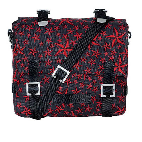 Kampftasche, klein - red nautical star
