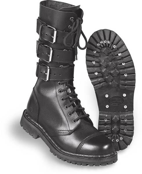 3-Schnallen-Stiefel - schwarz
