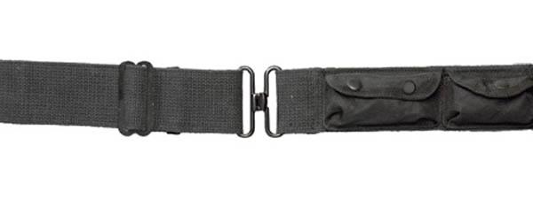 3-Taschen-Lochkoppel - schwarz