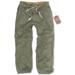 Athletic Vintage Trousers - oliv gewaschen