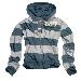 Stripe Hoodie Zipper - grau/blau