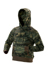 rome hooded ladies print sweater - woodland