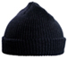 Watch cap raw knitted - blue